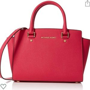 Michael Kors Selma Saffiano Medium Leather Satchel
